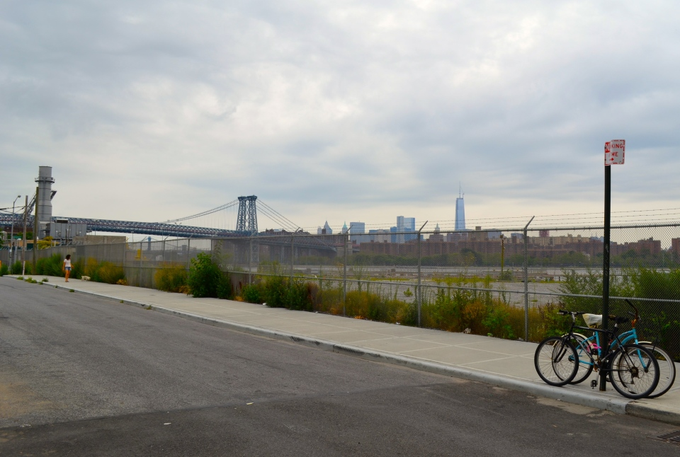 Melancholic Sunday. A view of Manhattan from North Side, WIlliamsburg.